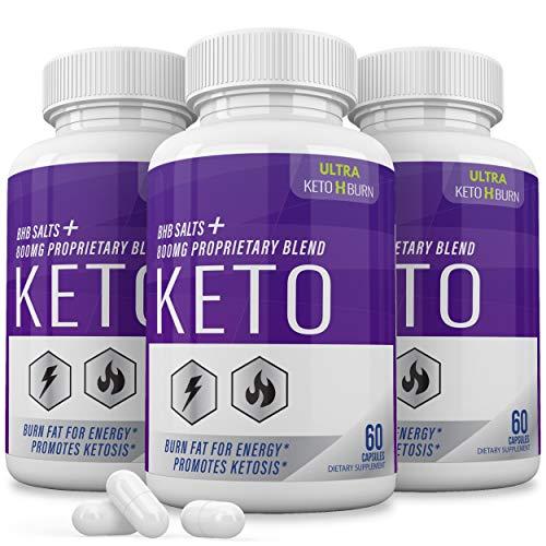 (3 Pack) Ultra Keto X Burn Shark Tank 800 mg, Ultra Keto X Burn Diet Pills Tablets Capsules, Pure Keto Fast Supplement for Energy, Focus - Exogenous Ketones for Men Women