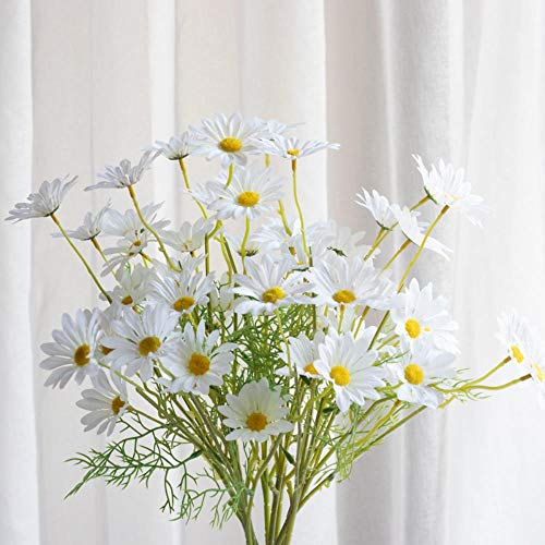 Miwaimao Chamomile Cosmos Small Daisy Flowers Artificial Flowers Plastic Decorations Wedding Decoration,White