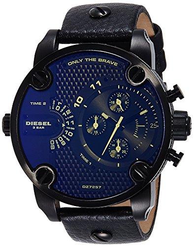 Diesel Herren Chronograph Quarz Uhr mit Leder Armband DZ7257