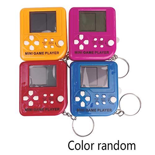 JUNESUN Portable Mini Tetris Game Console Portachiavi LCD Portatili Giocatori di Gioco Giocattoli educativi elettronici per Bambini Anti-Stress Portachiavi