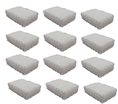 Air Filter Factory 12-Pack HM630, HM729, HM729G, HM7207, HM7808 Compatible for Holmes Humidifier Wick Filters
