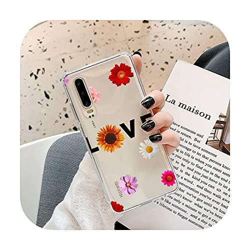 Linda caricatura margarita flor teléfono caso transparente para Samsung A71 S9 10 20 HUAWEI p30 40 honor 10i 8x xiaomi note 8 Pro 10t 11-a12-honor 8x