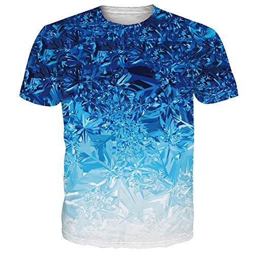 NEWISTAR Unisex Jugend 3D Druck Grafik Casual Kurzarm T-Shirt , Kastanienbraun1, XXL