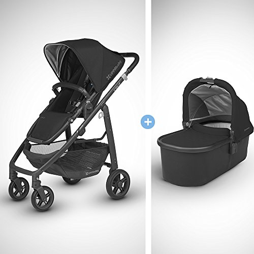 Review 2018 UPPABaby Cruz Stroller - Jake (Black/Carbon/Black Leather) + Bassinet- Jake (Black/Carbo...
