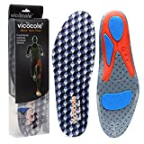 Shoe Inserts Arch Support Plantar Fasciitis Insoles Shock Absorber for Pronation(Grey,US8.5-11)