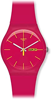 Swatch Women's SUOR704 Plastic Red Dial Watch