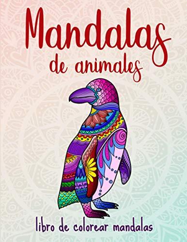 Mandalas de animales: 50 mandalas de animales para niños a partir de 8 años, creatividad, concentración y relajación