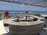 UK Leisure World New Black Poly Rattan Spa Surround Hot Tub Chic Modern
