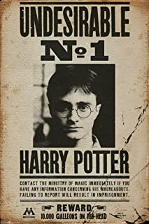 Harry Potter - Movie Poster/Print (Harry Potter Wanted - Undesirable No. 1) (Size: 24 inches x 36 inches) (Poster & Poster Strip Set)