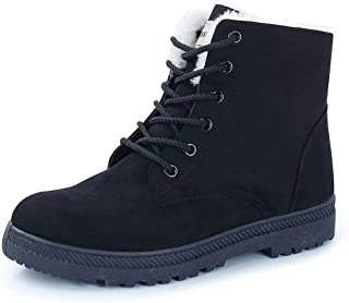 CIOR Women's Winter Boots Warm Suede Lace up PU Snow Boots Fahion Waterproof PU Shoes Casual Sneakers 2019