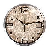 Arrivo Orologio da Parete Rotondo in Acciaio Inox per Soggiorno Parete Orologio Orologio Moderno Design 12/14 Pollici 12 Pollici d'