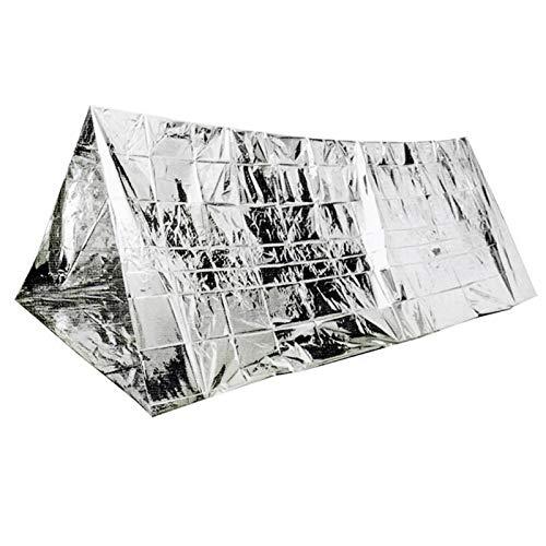 Carpa de emergencia reflectante térmica, adecuada para actividades al aire libre, para ser utilizada en entornos de baja temperatura(Silver, individual)