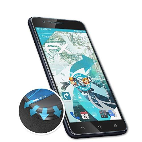 atFolix Schutzfolie kompatibel mit Asus ZenFone 3 Zoom ZE553KL / ZenFone Zoom S Folie, ultraklare & Flexible FX Bildschirmschutzfolie (3X)