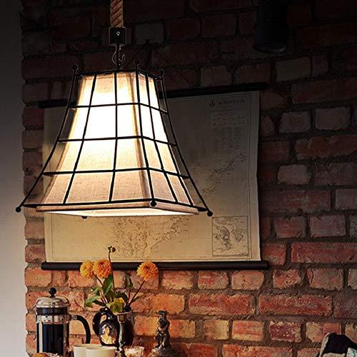 LCSD Lámparas de araña estilo industrial LOFT Restaurante Bar Cafetería Araña Retro Simple Luz Cálida Hierro Artesanía Lámpara LED de Techo Decoración del Hogar Dormitorio Entrada 35 × 35 × 35 cm