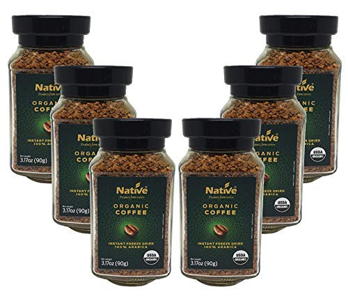Native Organic Instant Freeze Dried Coffee, 3.17 Ounce (Pack of 6)
