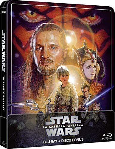 Star Wars Ep I: La Amenaza Fantasma (Edición remasterizada) - Steelbook 2 discos (Película + Extras) [Blu-ray]