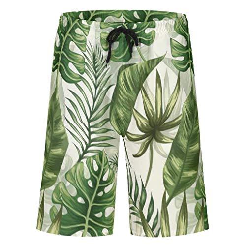 Bannihorse heren zwembroek sport shorts zomer strandmode sneldrogend zwemshort zwempak zwemshorts met verstelbare trekkoord zakken zonder mesh voering