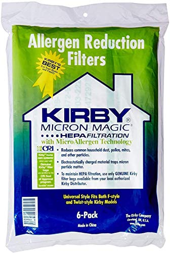 V2 Co.Ltd Kirby Vacuum Bags,Universal Hepa White Cloth Bags for All Generation & Sentria Models (6 Bags)
