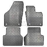 Carsio - Set di 4 tappetini auto in gomma su misura per Audi Q3 dal 2011 in poi, 4 clip