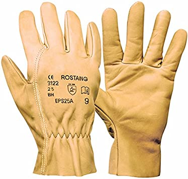 6 Rostaing EPS25A Premium Work Glove Made from Super Soft Water-Resistant Leather XS
