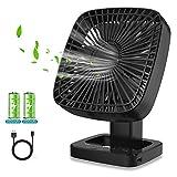 Ventilatore USB, Ventilatore da Tavolo Ventilatore Portatile Rotazione a 90 ° per Ventila...