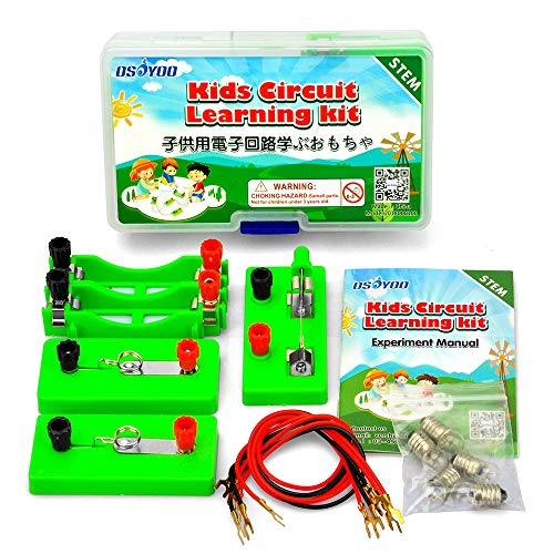 OSOYOO Electricity Science Experiment Kit for Kids | Parallel Series Circuit Building Learning Project | Energy Problem Solving Set for Students | Stimulate Early STEM Intelligence IQ for Girl Boy