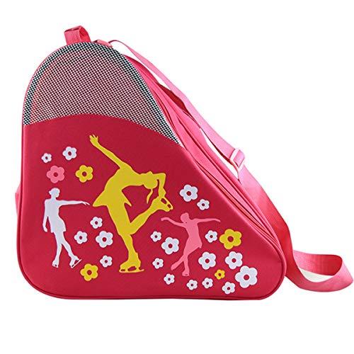Ice Skate Bag, Quad Ice Roller Skates Bags Inline Skating Bag, Womens Figure Skate Bag Hockey Skate Bag, Rollerblade Skating Bag Rollerskates, Ice Skating Bags Skate Backpack For Girls,Kids Ice Skates