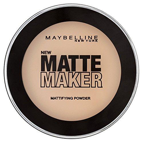 Maybelline Matte Maker Puder Nr. 20 Natural beige, nimmt überschüssiges Öl auf der Haut auf, 16 g
