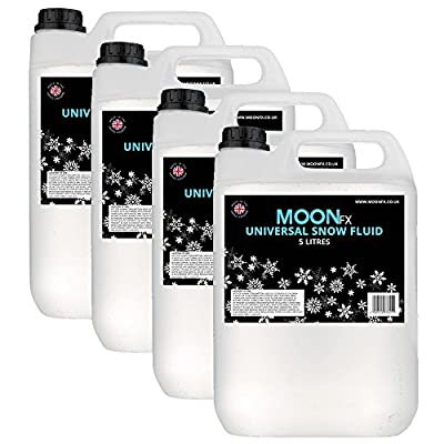 MoonFx Universal Snow Fluid 20 Litres (Ready to use) works in all machines 4x5L