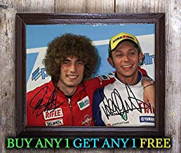 Valentino Rossi Marco Simoncelli Autographed Signed 8x10 Photo Reprint #29 Special Unique Gifts Ideas Him Her Best Friends Birthday Christmas Xmas Valentines Anniversary Fathers Mothers Day