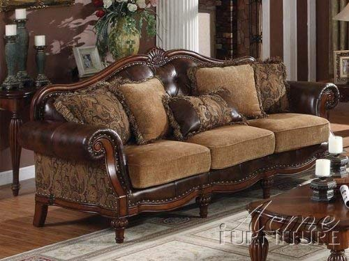 Big Sale Acme 05495 Dreena Bonded Leather Sofa with Five Pillows