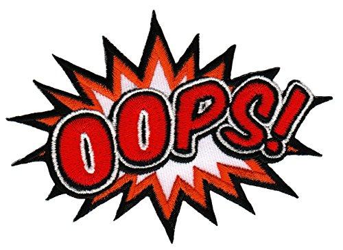 OOPS ! Aufnäher Bügelbild Patch Applikation