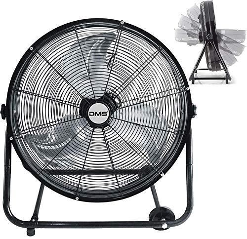 "DMS IBV-75 Trommelventilator Industrie Ventilator Bodenventilator Hallenlüfter 75 cm Windmaschine, Ø 60 cm (24\"") Trommelgebläse, Standventilator 10.000 m³/h, 220 Watt."