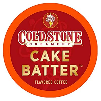 Cold Stone Creamery Single Serve Coffee in Recyclable Cups for all K Cup Brewers, including the Keurig 2.0 Brewer (Cake Batter, 24)
