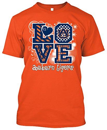 NCAA Love T-shirts - Alabama, Arkansas, Auburn, Clemson, Florida, FSU, Georgia, Kentucky, LSU, Mississippi St., Ole Miss, South Carolina, Tennessee, Texas A&M (Auburn Tigers, XXX-Large)