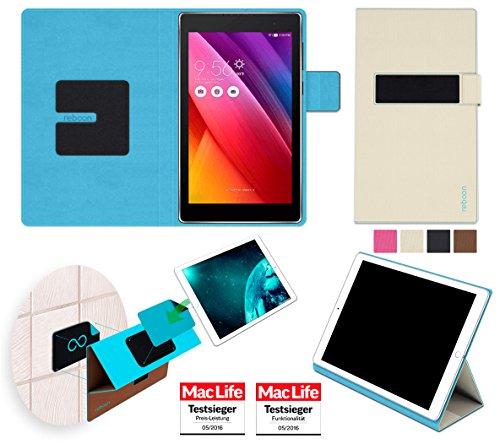reboon Hülle für Asus ZenPad 7.0 Tasche Cover Case Bumper | in Beige | Testsieger