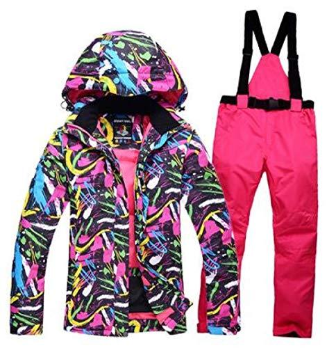 JSGJHXFFree Skipak, dames, snowboardpak, waterdicht, winddicht, ademende kleding voor de winter en thermische kleding