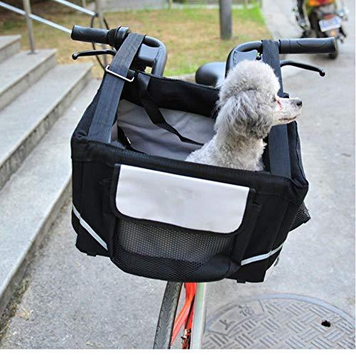 XXYMCB Alforja para Bicicleta portátil para Perros pequeños con Cesta para Cachorros