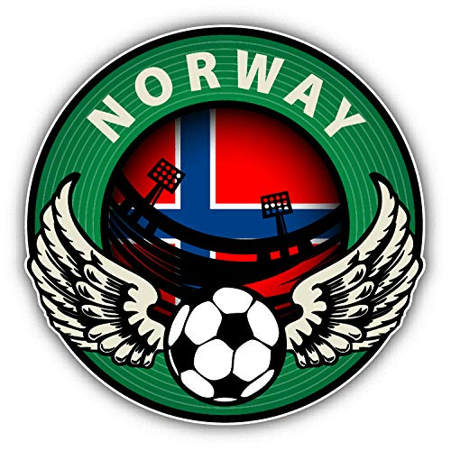Tamengi Norway Football Sport Wing Label Soccer Car Bumper Sticker Decal 5