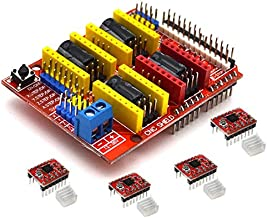 MeterMall Home Tools CNC Shield Board + A4988 Stepper Motor Driver for Arduino V3 Engraver 3D Printer