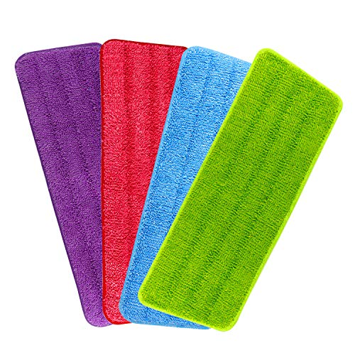 TUPARKA 4 Pacchi Spray Mop Pads Tampone di Ricambio per Stracci in Microfibra Rivela Mop Head Cuscinetto di Ricambio per la Pulizia 42x14cm