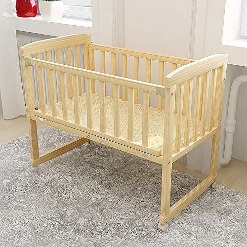 HEEGNPD Wiegen Baby Wiege Naturholz kann für Büro Schaukelstuhl Bett Kinder 0-3 Jahre alt Baby ändern Moskitonetz,Big