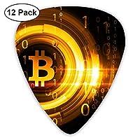 エレクトリックギターとアコースティックギターに適したエレクトリックギターの絶妙な12ピースピックビットコイン背景