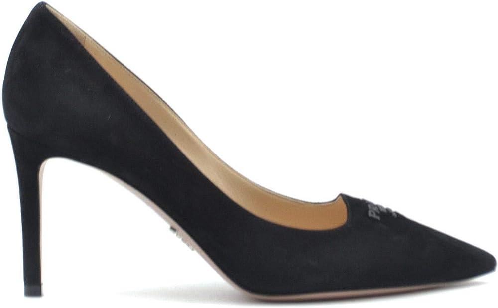Prada luxury fashion  - scarpe décolleté  con tacco a spillo, per donna in pelle scamosciata 1I718L008F0002