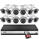 ZOSI H.265+ 1080p 16 Channel Security Camera System for Home,16