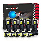 BRISHINE 194 LED Bulbs Extremely Bright Ice Blue 5630 Chipsets 168 2825 175 T10 W5W LED Replacement Bulbs for Car Interior Dome Map Door Courtesy Trunk License Plate Lights(Pack of 10)