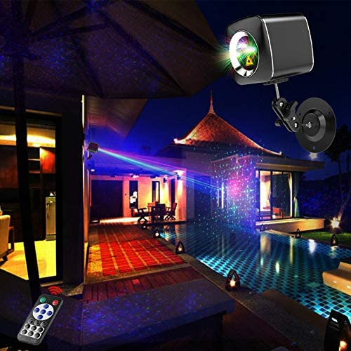 Mini Portable Cordless RGB Laser Party Light Rechargable Sound Activated DJ Disco Lights with product image