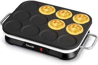 Saachi 12Pcs Mini Crepe & Pancake Maker, NL-CM-1860 (Black)
