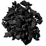 NuPlay Rubber Nugget Landscaping Mulch Ground Cover Weed Barrier, 1 Pack, Black