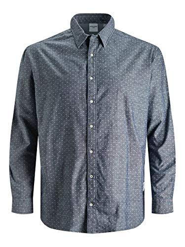 Jack & Jones JJ30CLASSIC Shirt L/S PS Chemise, Blazer Bleu Marine, 4XL/6XL Homme